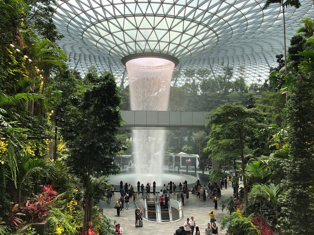 Gardens by the Bay waterval